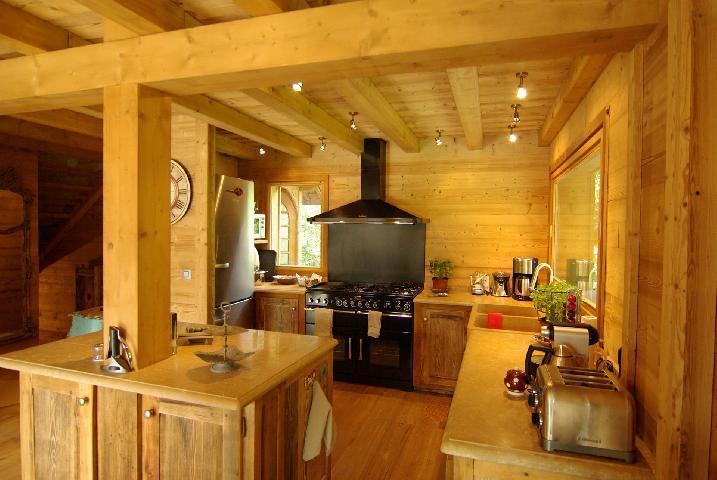 Location au ski Chalet 6 pièces 10 personnes - Chalet Peyrlaz - Chamonix - Cuisine