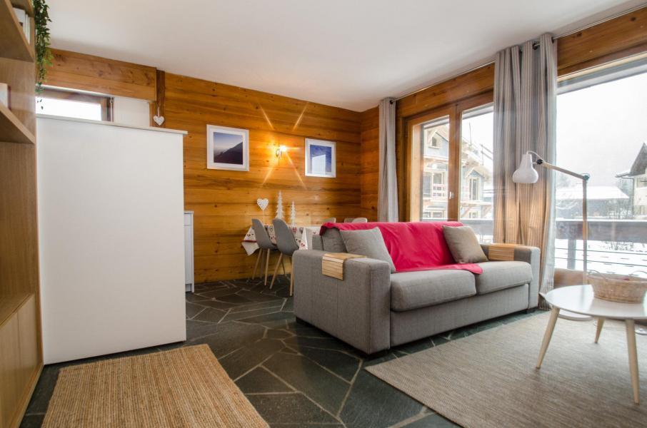 Rent in ski resort 2 room apartment 4 people (FEDORA) - Flegere et Golf - Chamonix - Living room