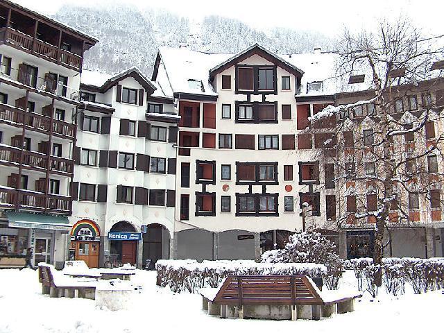 Vakantie in de bergen Appartement 1 kamers 2 personen (5) - Gentiane - Chamonix - Buiten winter
