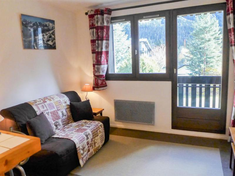 Rent in ski resort 1 room apartment 2 people (15) - Les Chalets de Champraz - Chamonix - Living room