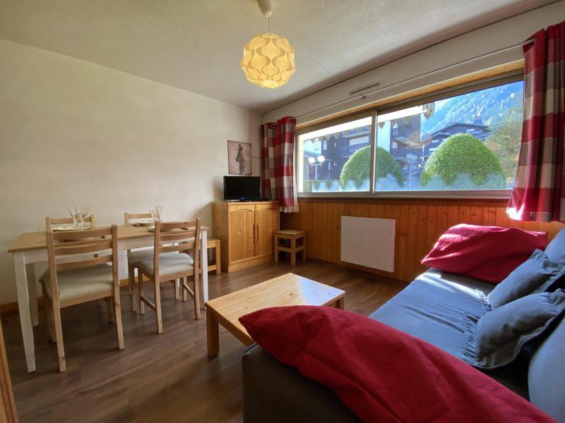 Location au ski Studio coin montagne 4 personnes (Mirabel) - Résidence le Clos du Savoy - Chamonix - Séjour