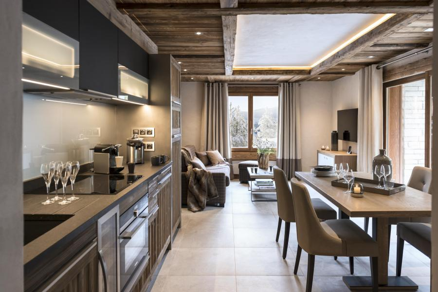Rent in ski resort Résidence le Cristal de Jade - Chamonix - Open-plan kitchen