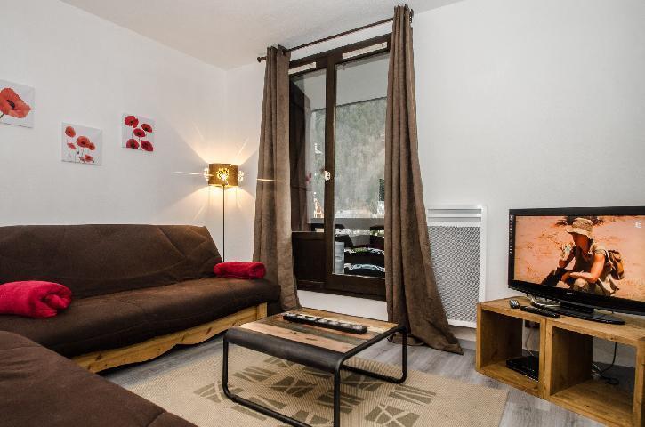 Location au ski Appartement 2 pièces cabine 2-4 personnes - Residence Le Triolet - Chamonix - Banquette