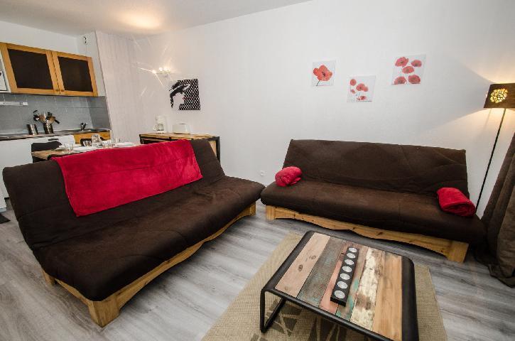 Location au ski Appartement 2 pièces cabine 2-4 personnes - Residence Le Triolet - Chamonix - Séjour