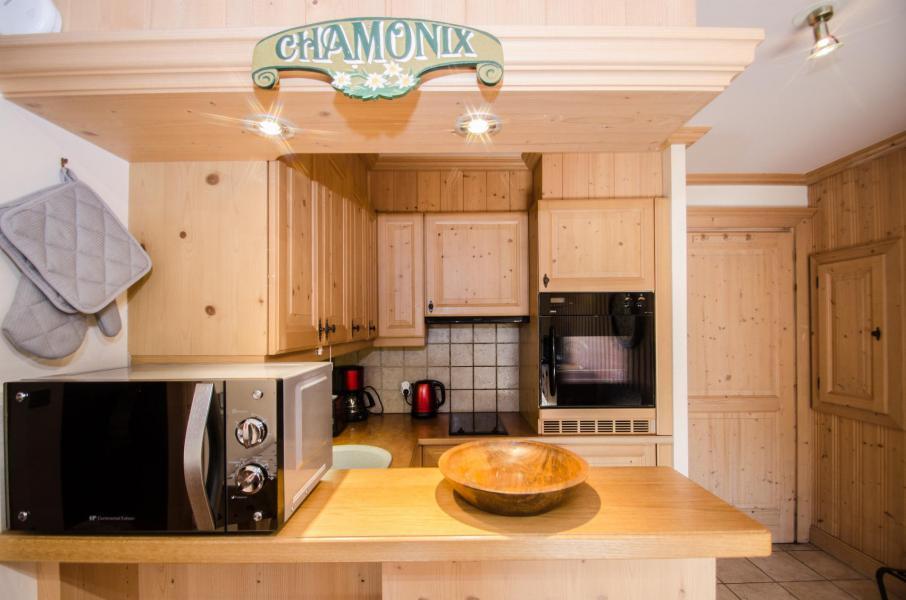 Location au ski Appartement 2 pièces 4 personnes - Résidence les Chalets du Savoy - Orchidée - Chamonix - Cuisine