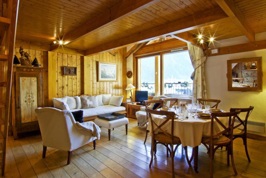 Location au ski Appartement 5 pièces 6-8 personnes - Résidence les Chalets du Savoy - Orchidée - Chamonix - Séjour