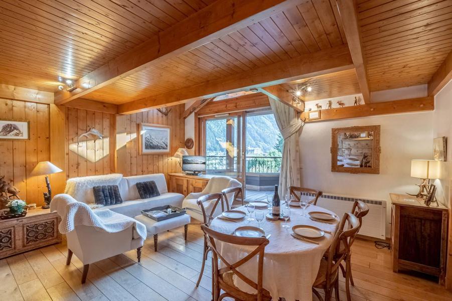 Location au ski Appartement 5 pièces 8-8 personnes - Residence Les Chalets Du Savoy - Orchidee - Chamonix - Séjour