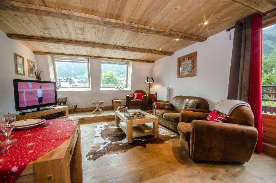 Location au ski Appartement 3 pièces 5 personnes - Residence Lyret 1 - Chamonix - Séjour