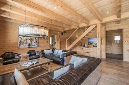 Rent in ski resort 6 room duplex chalet 10 people (Marius) - Chalet Marius - Chamonix - Living room