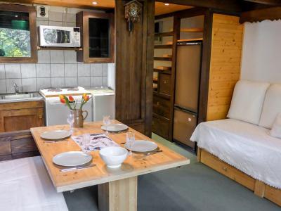Rent in ski resort 1 room apartment 4 people (4) - Grand Roc - Chamonix - Apartment