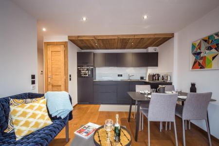 Rent in ski resort 2 room apartment 2 people (ALLEGRIA) - Résidence Androsace du Lyret - Chamonix - Living room
