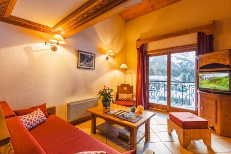 Location au ski Residence Lagrange Le Cristal D'argentiere - Chamonix - Coin séjour