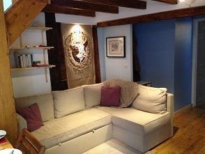 Location au ski Appartement 2 pièces mezzanine 6 personnes (10) - Chalet Le Dahu - Champagny-en-Vanoise - Canapé