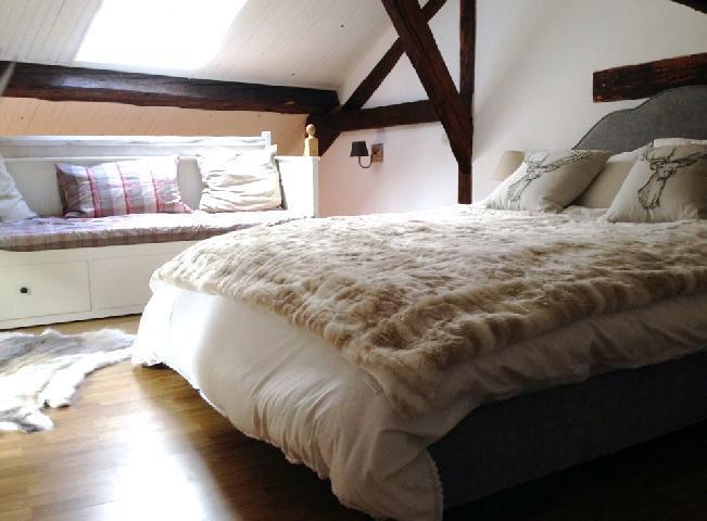 Location au ski Appartement 2 pièces mezzanine 6 personnes (10) - Chalet Le Dahu - Champagny-en-Vanoise - Chambre mansardée