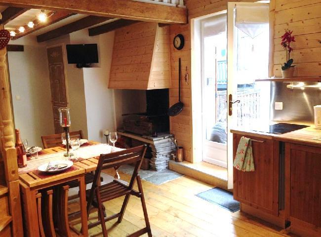 Location au ski Appartement 2 pièces mezzanine 6 personnes (10) - Chalet Le Dahu - Champagny-en-Vanoise - Salle à manger