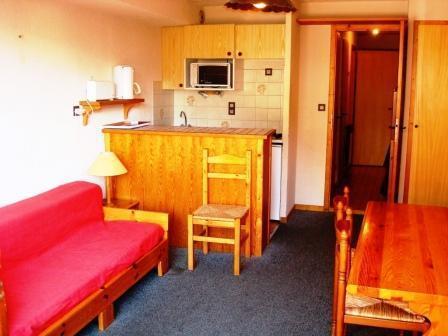 Location au ski Studio cabine 4 personnes (2) - Residence Du Centre - Champagny-en-Vanoise - Banquette-lit