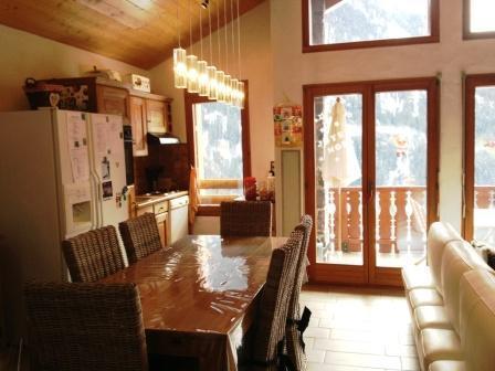 Location au ski Appartement 3 pièces mezzanine 6 personnes - Residence Le Chargalon - Champagny-en-Vanoise - Séjour