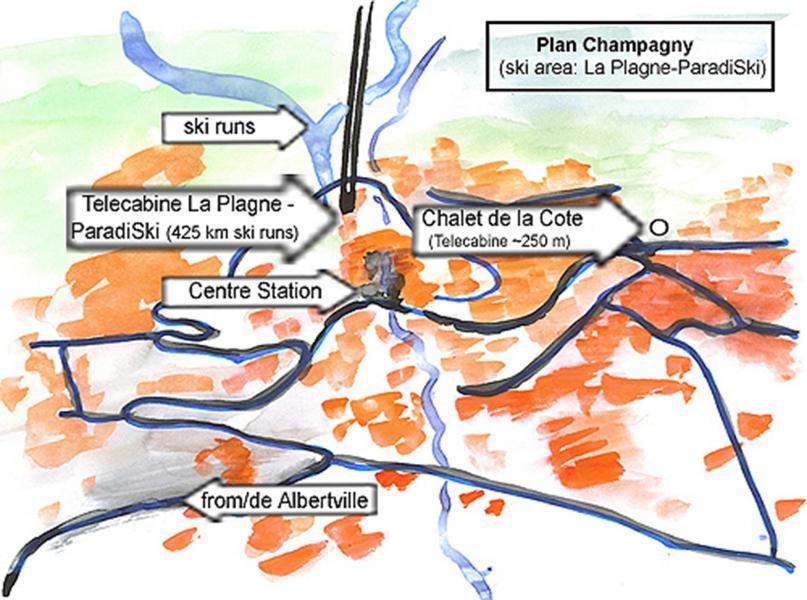 Location au ski Chalet de la Côte - Champagny-en-Vanoise - Plan