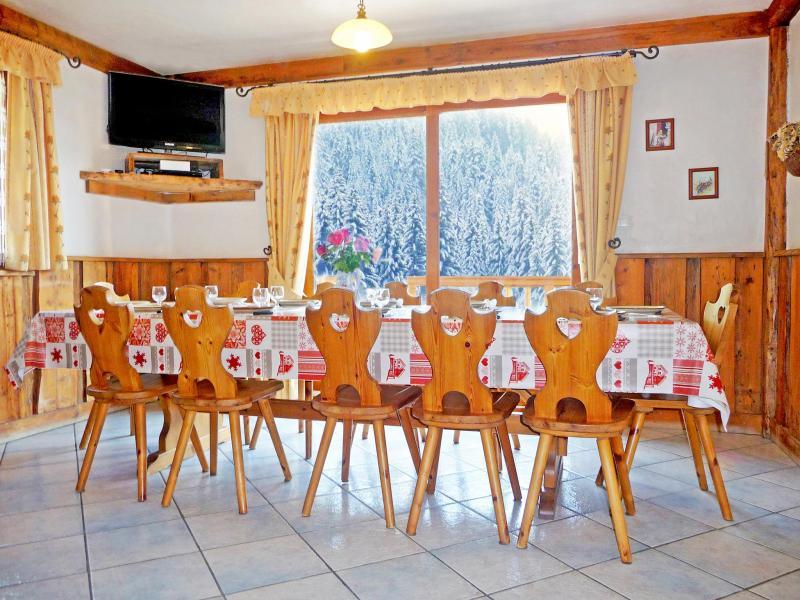 Location au ski Chalet de la Côte - Champagny-en-Vanoise - Salle à manger