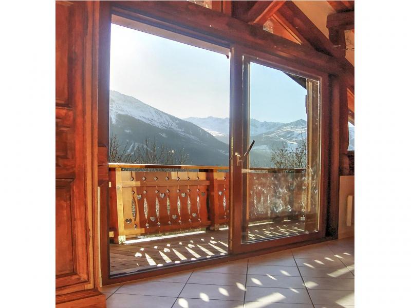 Rent in ski resort Chalet Diamant - Champagny-en-Vanoise - French window onto balcony