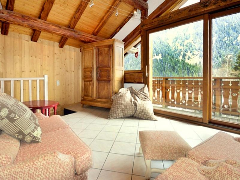 Rent in ski resort Chalet Diamant - Champagny-en-Vanoise - Living room