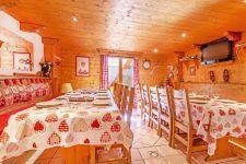 Location au ski Chalet Grand Arbet - Champagny-en-Vanoise - Coin repas