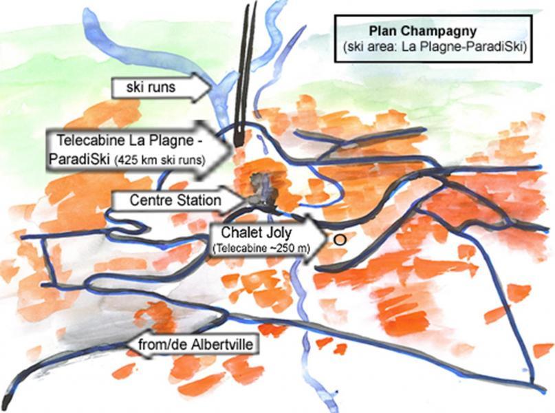 Location au ski Chalet Joly - Champagny-en-Vanoise - Plan