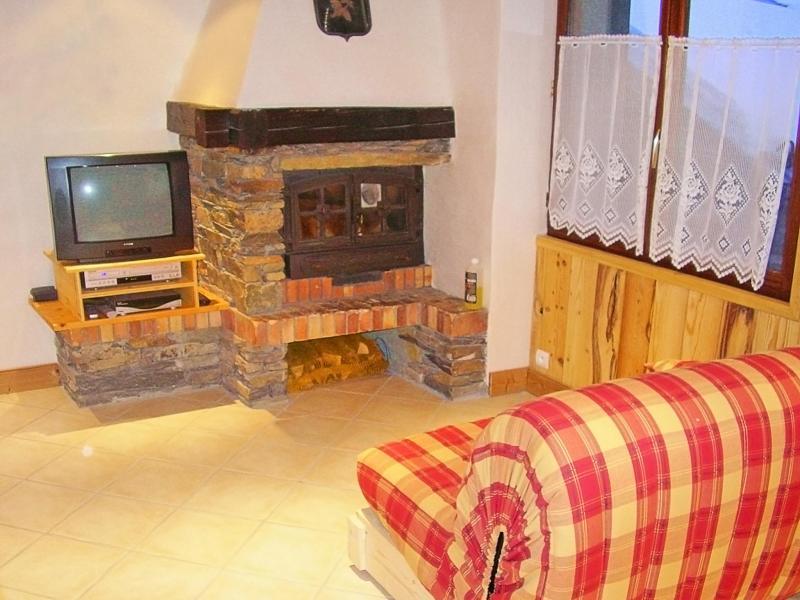 Rent in ski resort Chalet Joly - Champagny-en-Vanoise - Living area