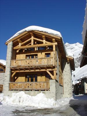 Vacances en montagne Chalet l'Edelweiss - Champagny-en-Vanoise - Extérieur hiver