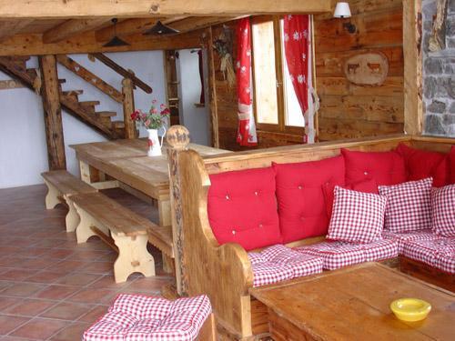 Location au ski Appartement 12 personnes - Chalet l'Edelweiss - Champagny-en-Vanoise - Coin séjour