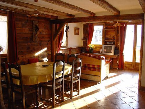 Location au ski Appartement 8 personnes - Chalet l'Edelweiss - Champagny-en-Vanoise - Coin repas
