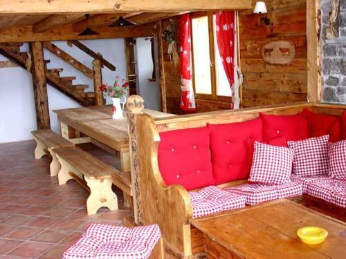 Location au ski Chalet triplex 11 pièces 20 personnes - Chalet l'Edelweiss - Champagny-en-Vanoise - Séjour