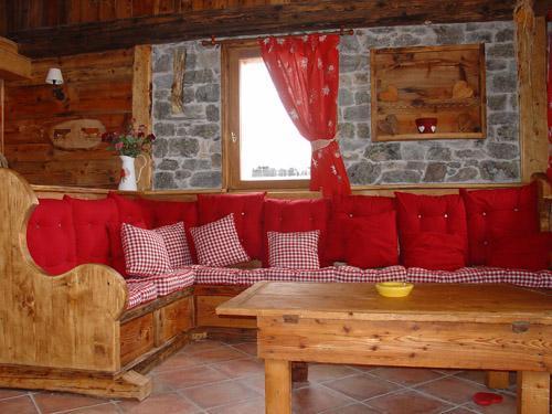 Location au ski Chalet l'Edelweiss - Champagny-en-Vanoise - Coin séjour