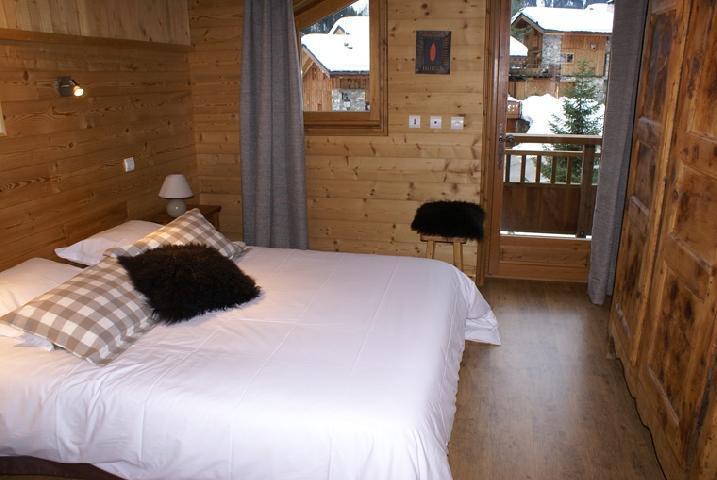 Skiverleih Doppelhaus Holzhütte 5 Zimmer 8-10 Personnen - Chalet la Sauvire - Champagny-en-Vanoise - Doppelbett