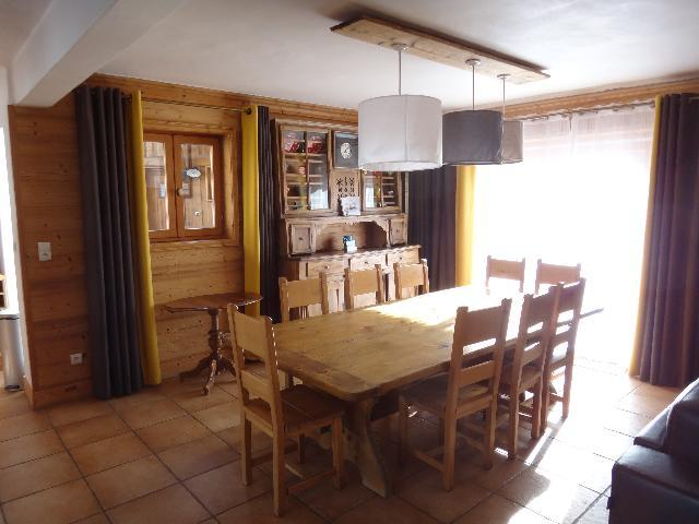 Skiverleih Doppelhaus Holzhütte 5 Zimmer 8-10 Personnen - Chalet la Sauvire - Champagny-en-Vanoise - Esszimmer