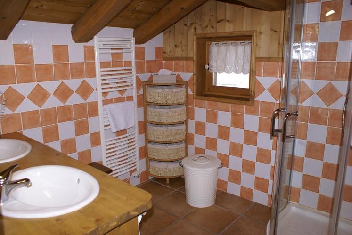 Skiverleih Doppelhaus Holzhütte 5 Zimmer 8-10 Personnen - Chalet la Sauvire - Champagny-en-Vanoise - Waschräume