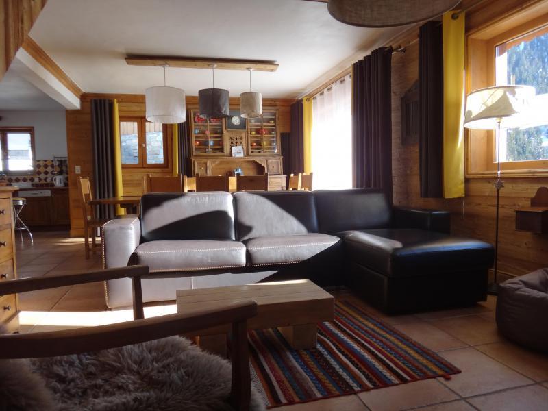 Skiverleih Chalet la Sauvire - Champagny-en-Vanoise - Kleines Wohnzimmer