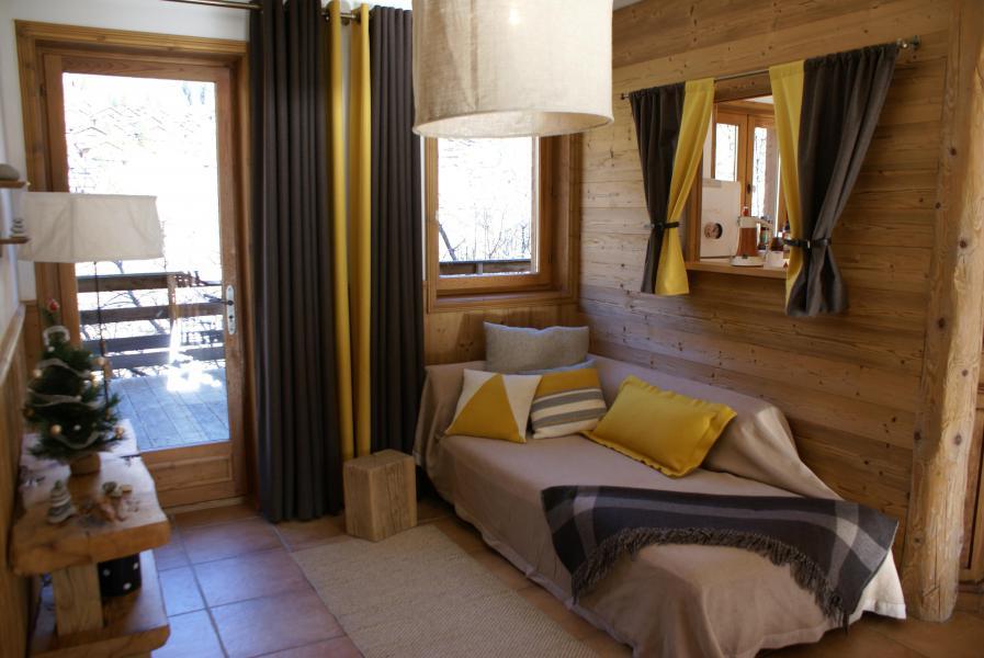 Skiverleih Chalet la Sauvire - Champagny-en-Vanoise - Offener Schlafbereich