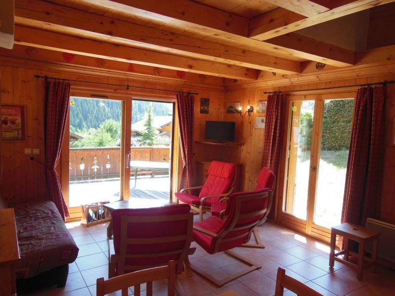 Location au ski Chalet Les Soldanelles - Champagny-en-Vanoise - Canapé