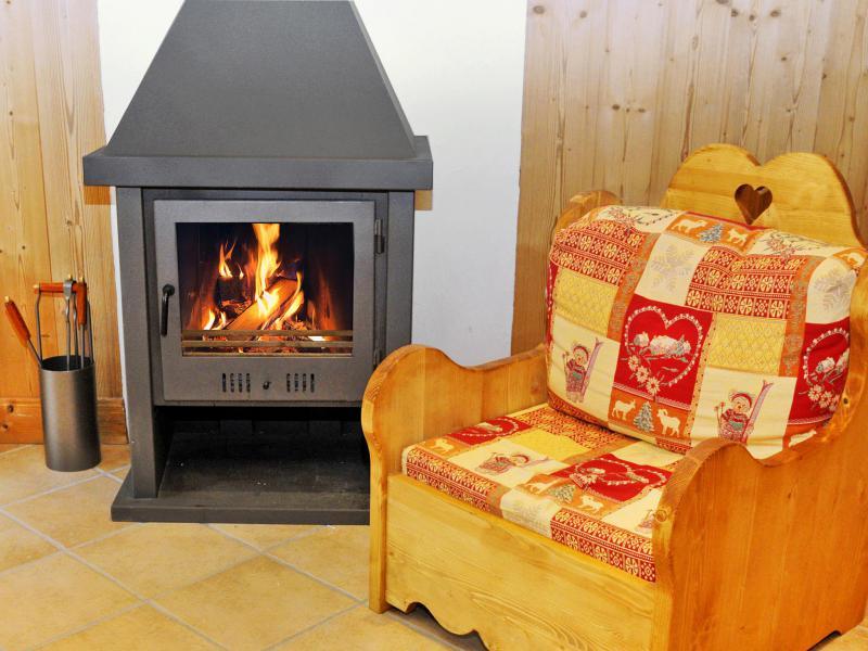 Location au ski Chalet Rosa Villosa - Champagny-en-Vanoise - Cheminée