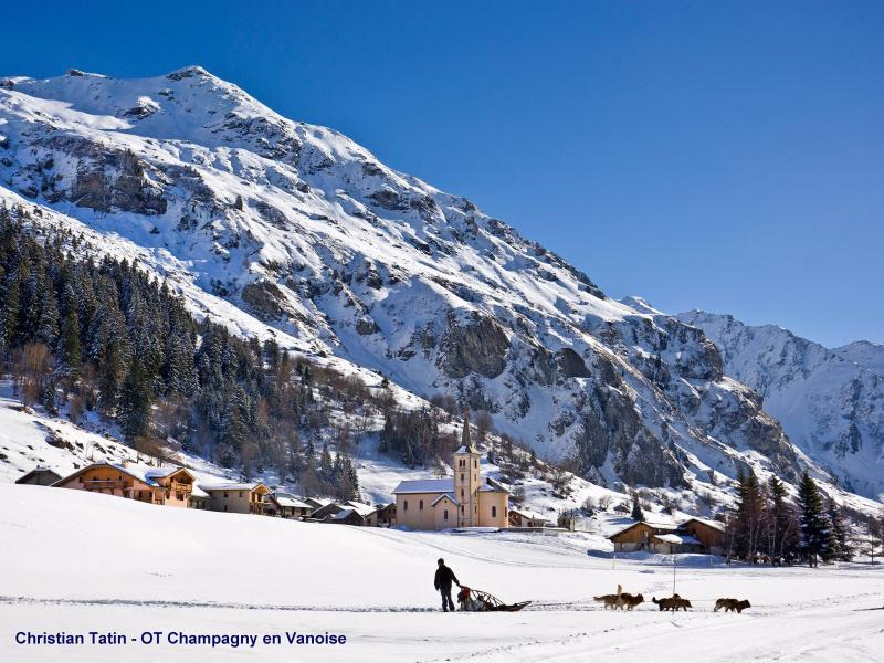 Holiday in mountain resort Chalet Vanoise - Champagny-en-Vanoise - Winter outside