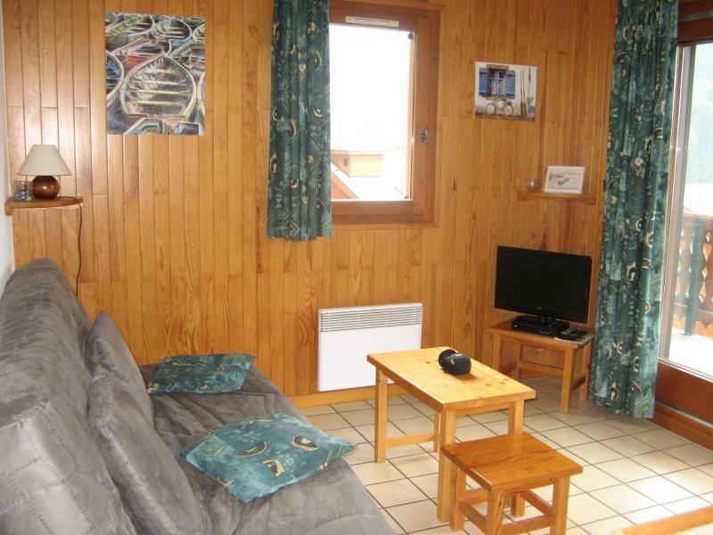 Wynajem na narty Apartament 2 pokojowy kabina 6 osób (011CL) - Résidence le Chardonnet - Champagny-en-Vanoise - Pokój gościnny
