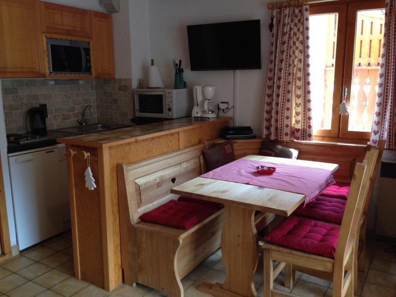 Location au ski Appartement 2 pièces cabine 6 personnes (003CL) - Résidence le Chardonnet - Champagny-en-Vanoise - Table
