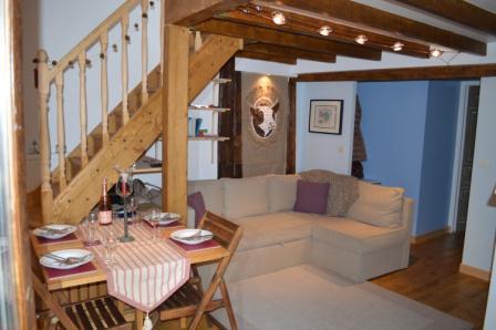 Location au ski Appartement 3 pièces mezzanine 6 personnes - Résidence le Dahu - Champagny-en-Vanoise - Séjour