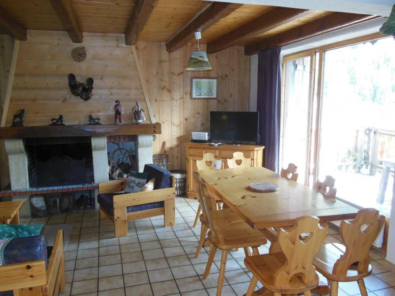 Ski verhuur Chalet 4 kamers 8 personen (A012P) - Résidence le Hameau des Rochers - Champagny-en-Vanoise - Open haard