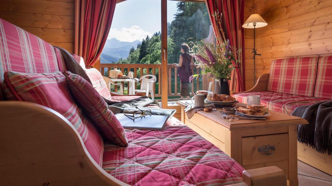 Skiverleih Résidence les Alpages de Champagny - Champagny-en-Vanoise - Kleines Wohnzimmer