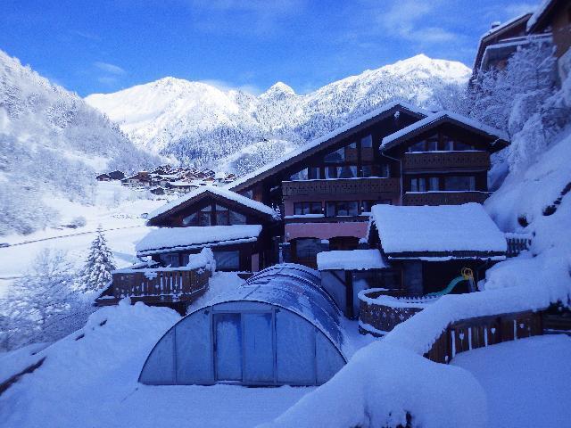 Location au ski Residence Les Edelweiss - Champagny-en-Vanoise - Extérieur hiver