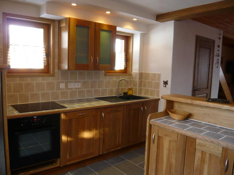 Rent in ski resort 3 room chalet 7 people - Résidence les Edelweiss - Champagny-en-Vanoise - Open-plan kitchen