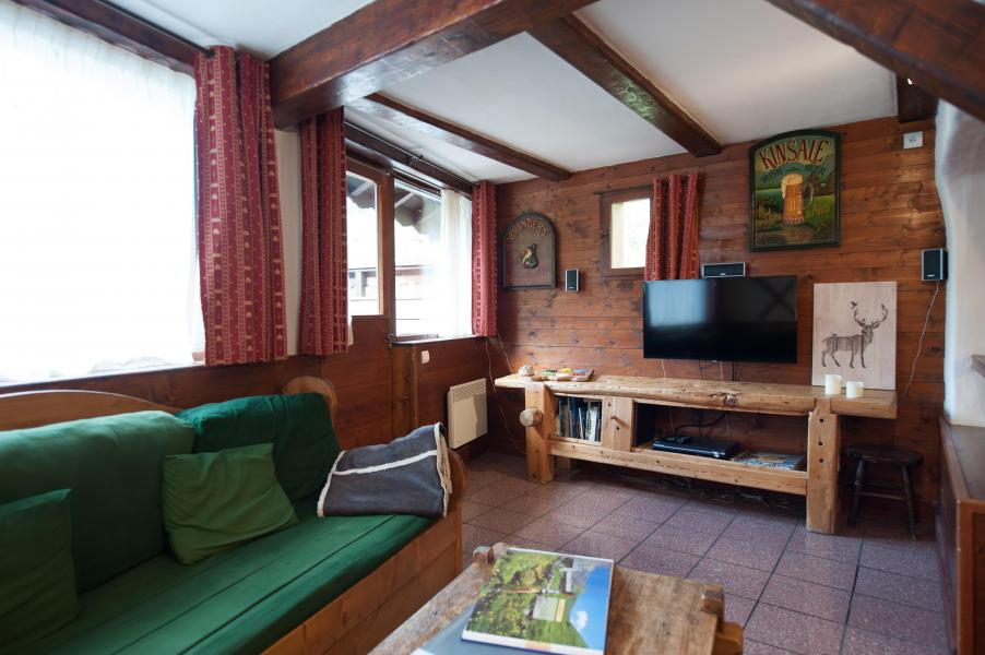 Rent in ski resort 3 room mezzanine semi-detached chalet 6-8 people - Résidence les Edelweiss - Champagny-en-Vanoise - TV