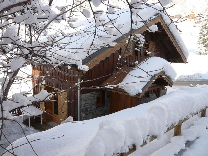 Rent in ski resort 3 room chalet 7 people - Résidence les Edelweiss - Champagny-en-Vanoise - Winter outside